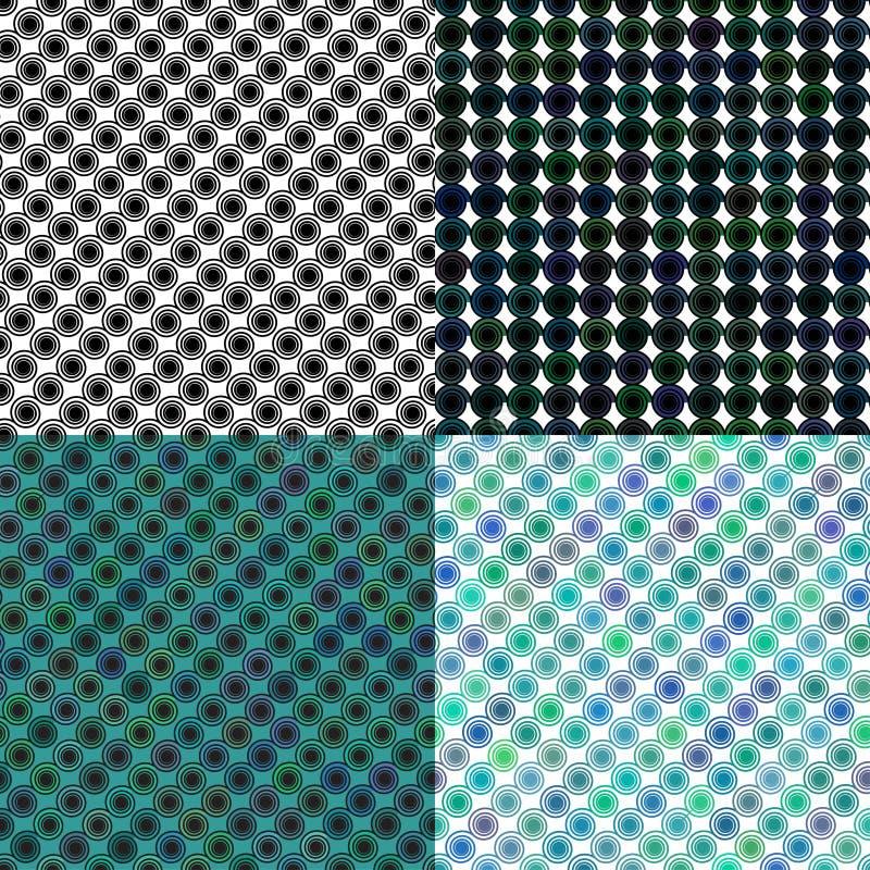 Satz des farbigen Musters der Spirale Locken endlos lizenzfreie abbildung
