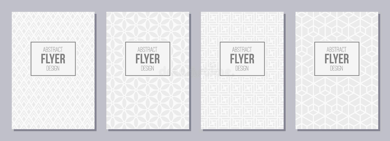 Satz des Fliegers, Poster, Fahnen, Plakate, Broschürendesign templa stock abbildung