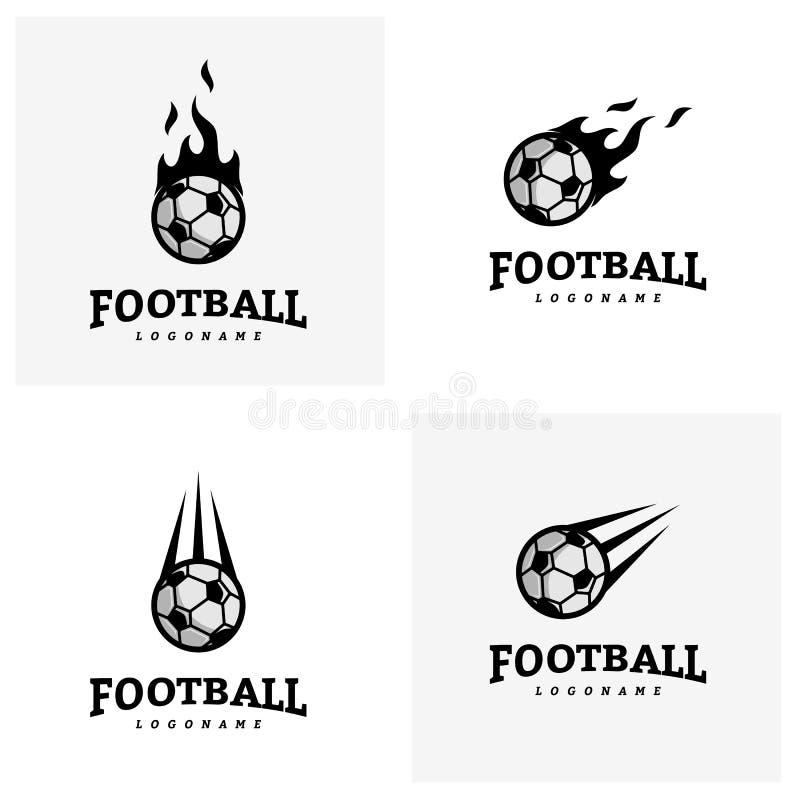 Satz Des Fussball Fussball Ausweises Logo Design Templates
