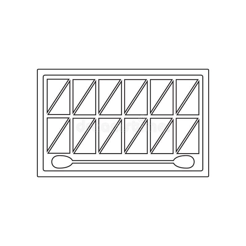 Satz des Gesichtes beschattet Ikone Element des Sch?nheitssalons f?r bewegliches Konzept und Netz Appsikone Entwurf, d?nne Linie  lizenzfreie abbildung