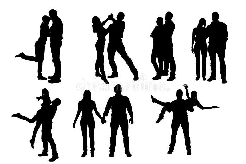 Satz des glücklichen Paars stock abbildung