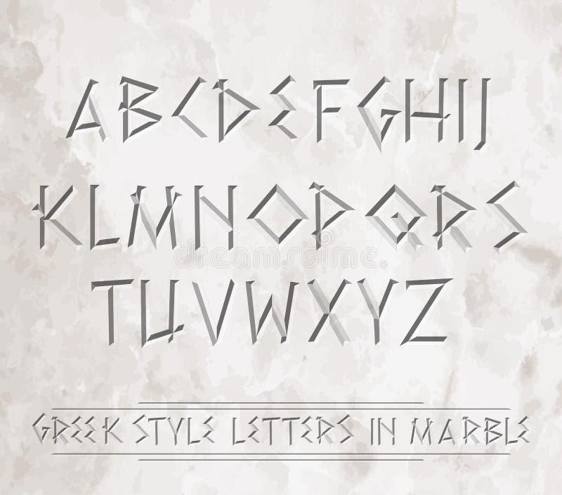Satz des Griechebuchstaben lizenzfreie abbildung