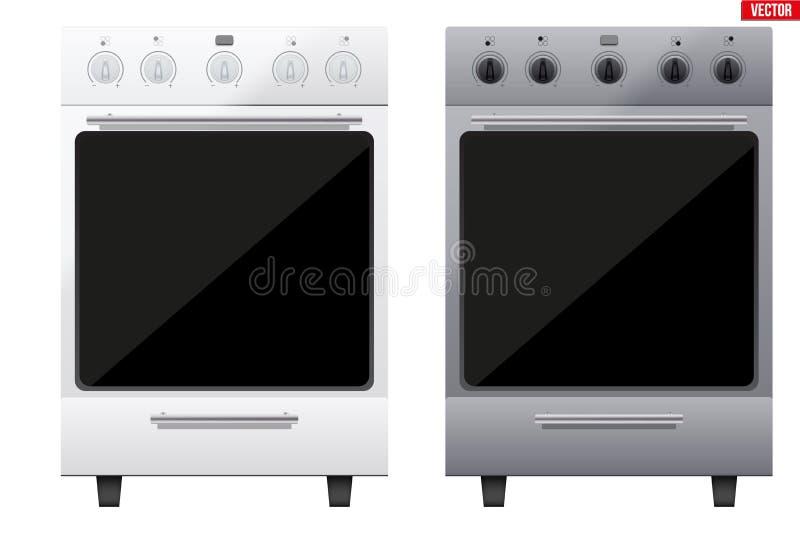 Satz des klassischen Küchen-Ofens stock abbildung
