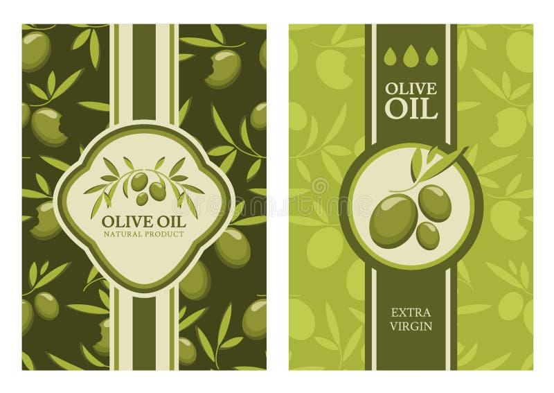 Satz des olivgrünen nahtlosen Musters des Vektors, Aufkleber, Aufkleber vektor abbildung