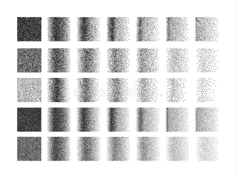 Satz des quadratischen Musters der Punktierung 35 für Design Fliesenstellen lizenzfreie abbildung