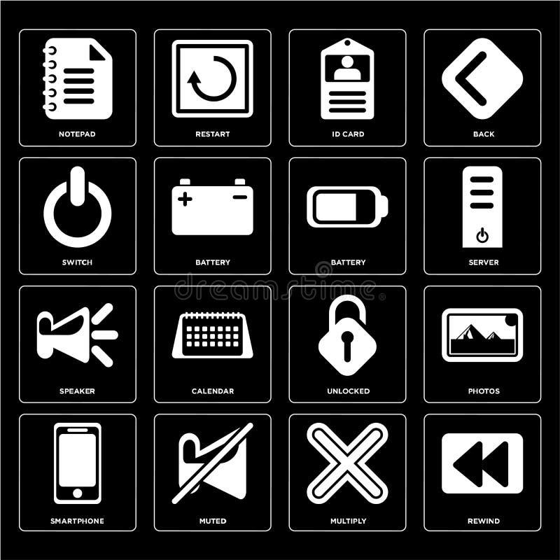 Satz des Rückspulens, multiplizieren, Smartphone, entriegelt, Sprecher, Batterie, lizenzfreie abbildung