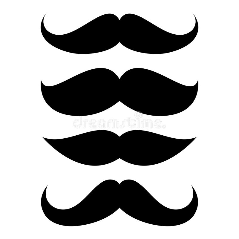 Satz des Schnurrbartes lizenzfreie abbildung