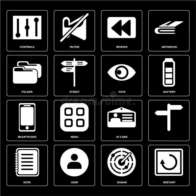 Satz des Wiederanlaufs, Radar, Anmerkung, Identifikations-Karte, Smartphone, Ansicht, Ordner, lizenzfreie abbildung