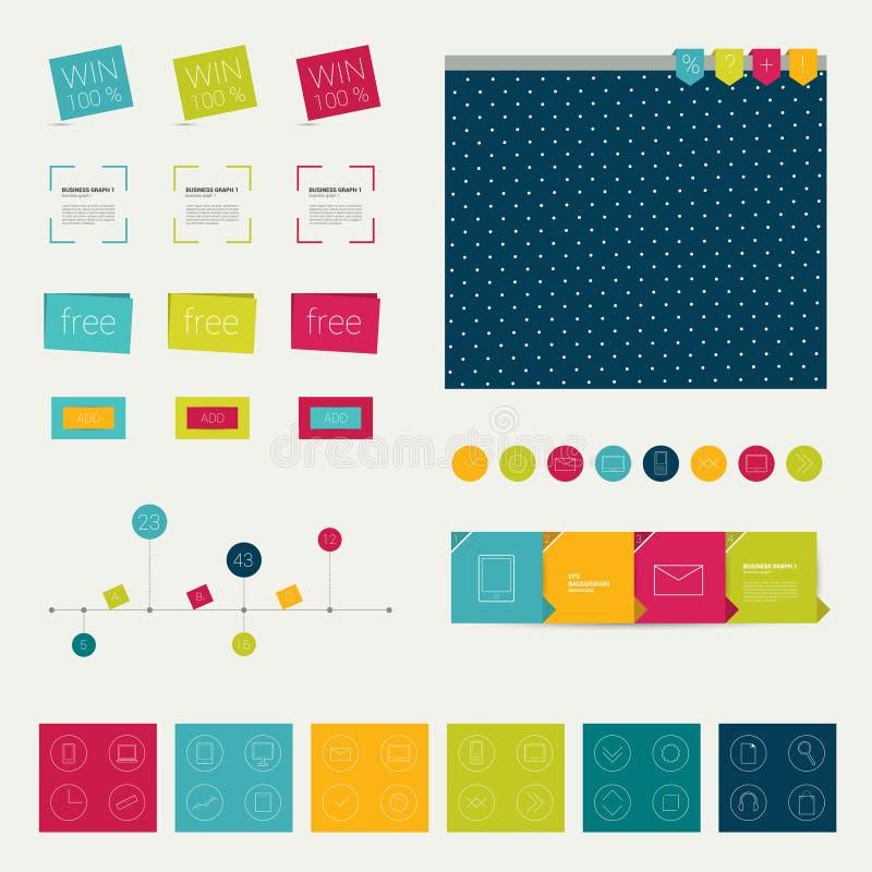Satz einfach minimalistic flache infographic Elemente. vektor abbildung