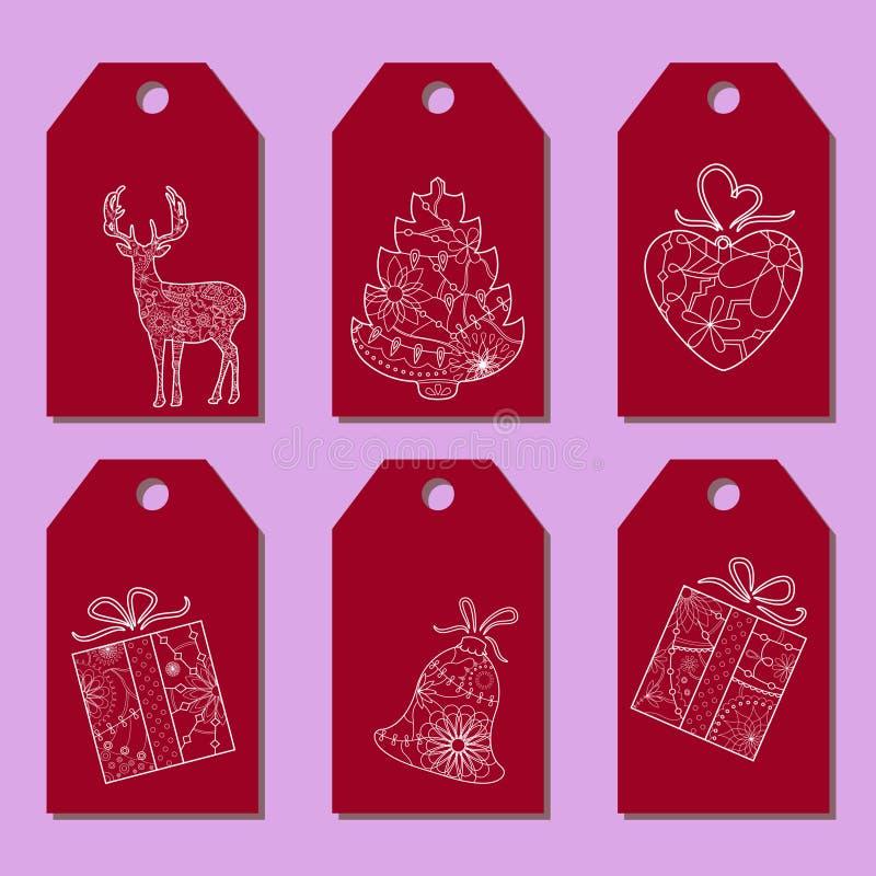 Satz einfache Weihnachtstags lizenzfreie abbildung