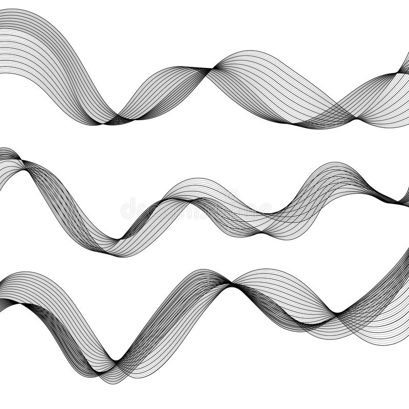 Satz einfarbige Zusammenfassung lokalisierte transparente Wellen-Linien für W vektor abbildung