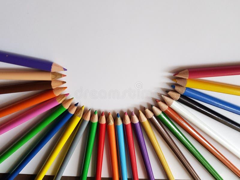 Satz Farbe zeichnet die Formung eines Halbkreises, des Hintergrundes und der Beschaffenheit an lizenzfreie stockfotos