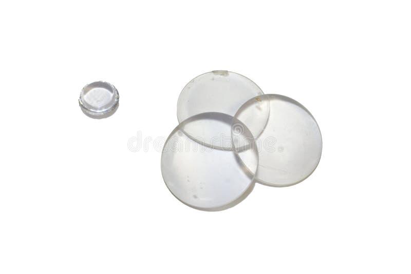 Satz flach-konvexe optische Vergrößerungsglaslinsen Getrennt lizenzfreies stockbild