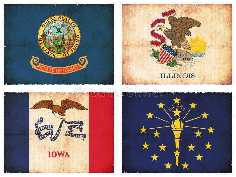 Satz Flaggen von Nordamerika #3 vektor abbildung