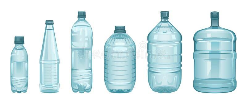 Satz Flaschen stock abbildung