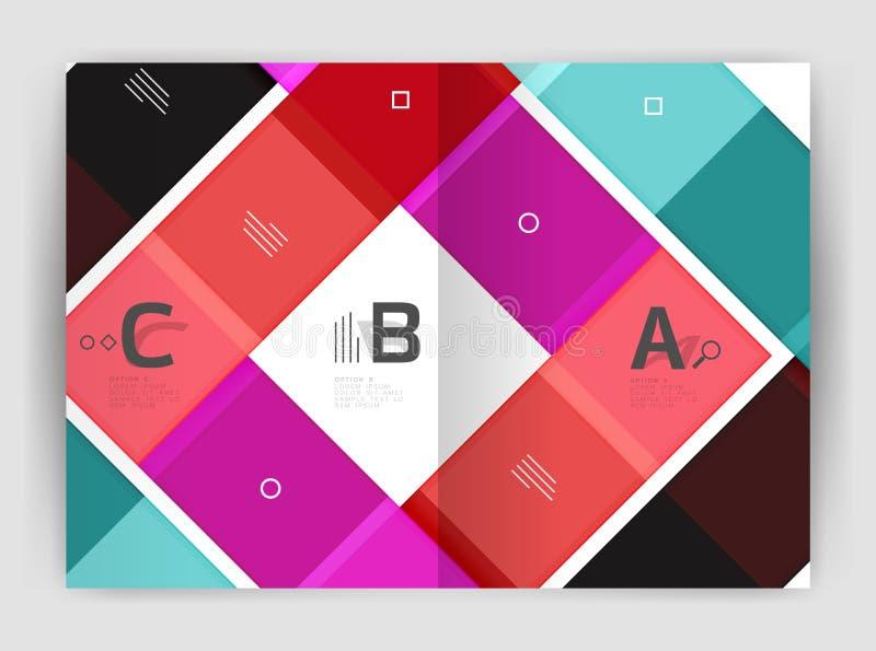 Satz Front und hintere Seiten der Größe a4, Geschäftsjahresbericht-Designschablonen lizenzfreie stockfotografie