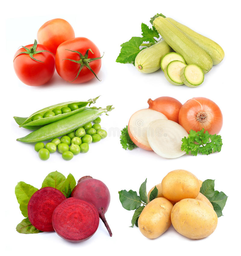 Satz Gemüse stockfotos