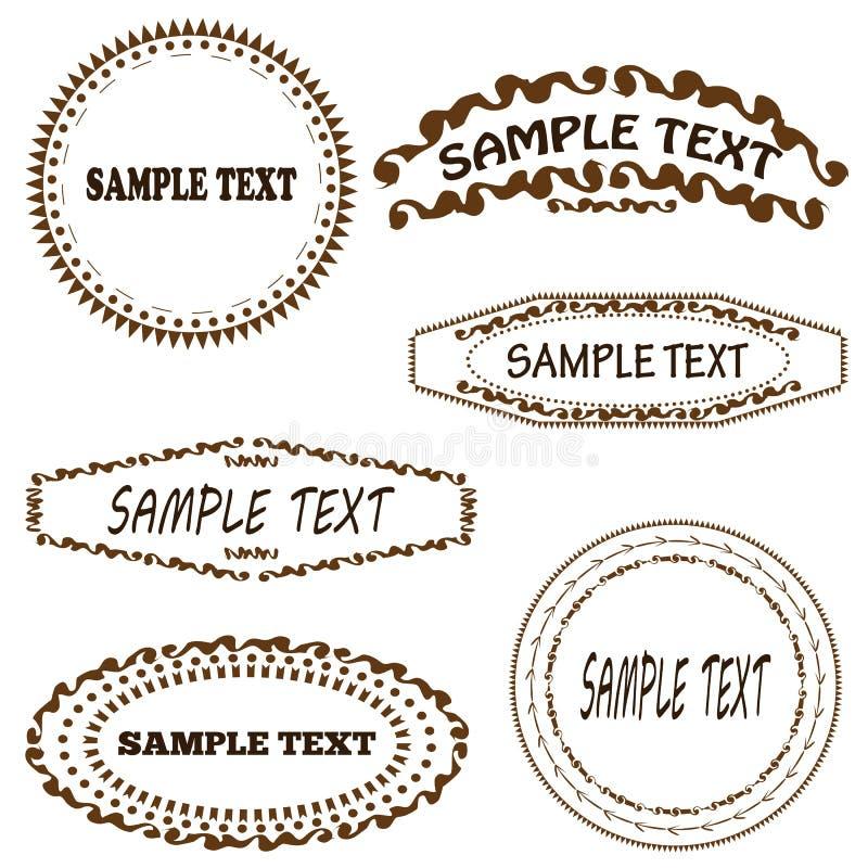 Satz Geometrische Rahmen Für Text Sechs Lokalisierte Elemente Kreis ...