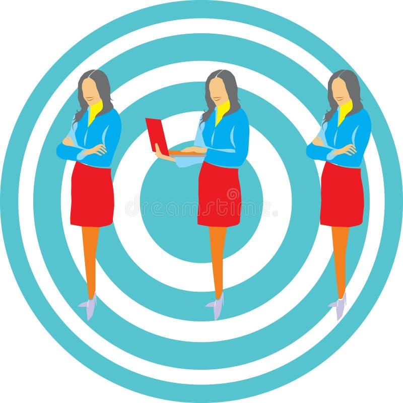 Satz Geschäftsfrauen lizenzfreie stockfotografie