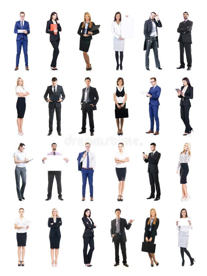 Satz Geschäftsleute lokalisiert auf Weiß lizenzfreie stockfotos