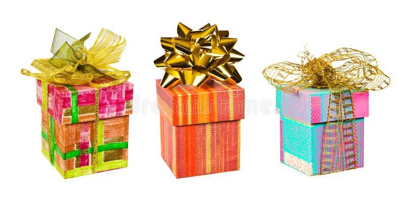 Satz Geschenke stockfotografie
