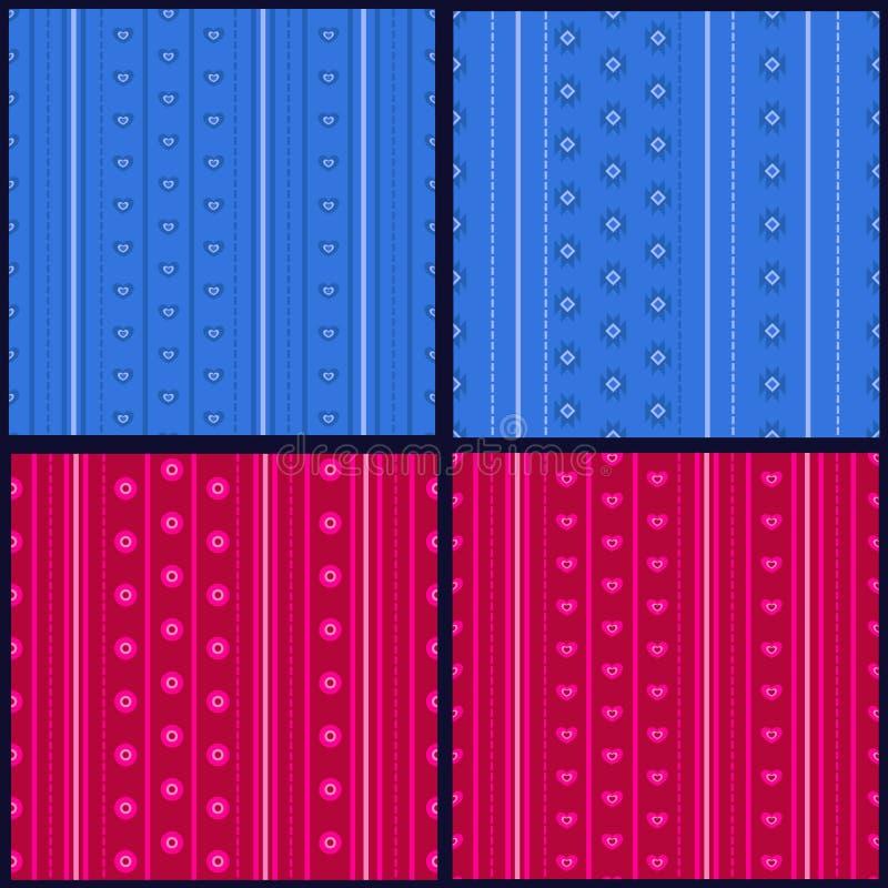Satz gestreifte Muster vektor abbildung