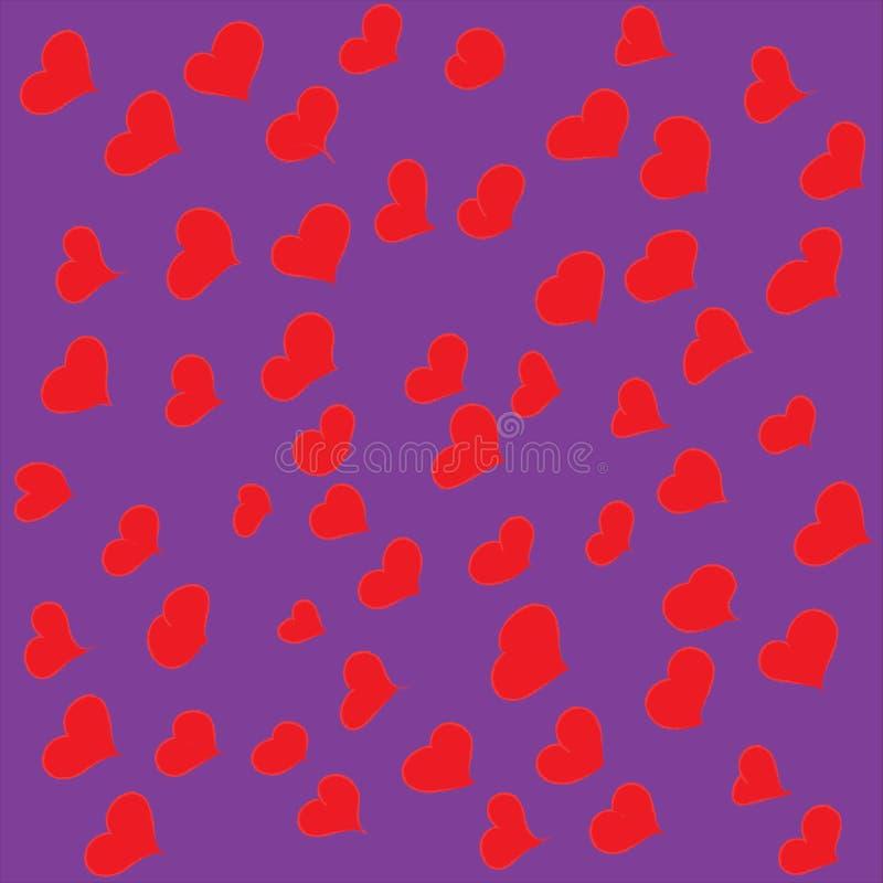 Satz Hand gezeichnete Herzen stock abbildung