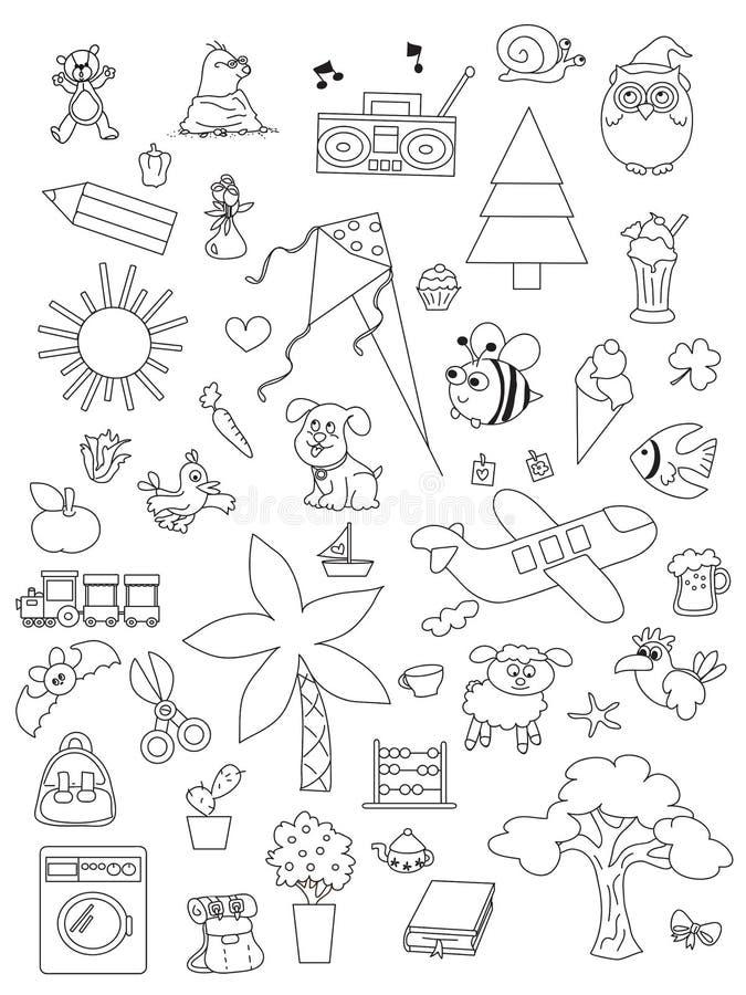 Satz Hand gezeichnete Kinder lizenzfreie abbildung