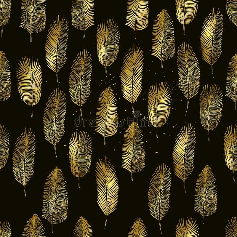 Satz Hand gezeichnete Palmblätter lizenzfreie abbildung