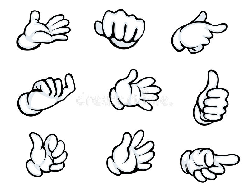 Satz Handzeichen vektor abbildung