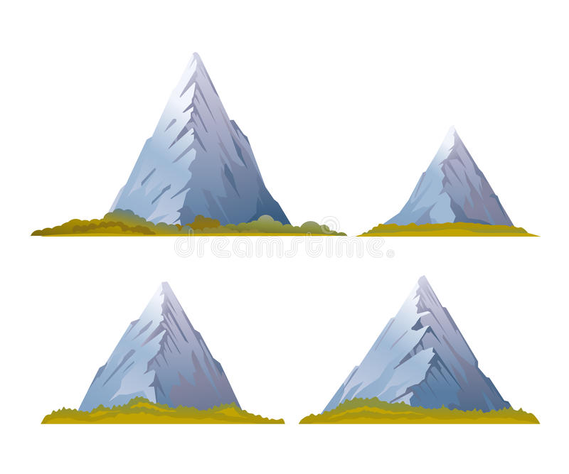 Satz Hochgebirge stock abbildung
