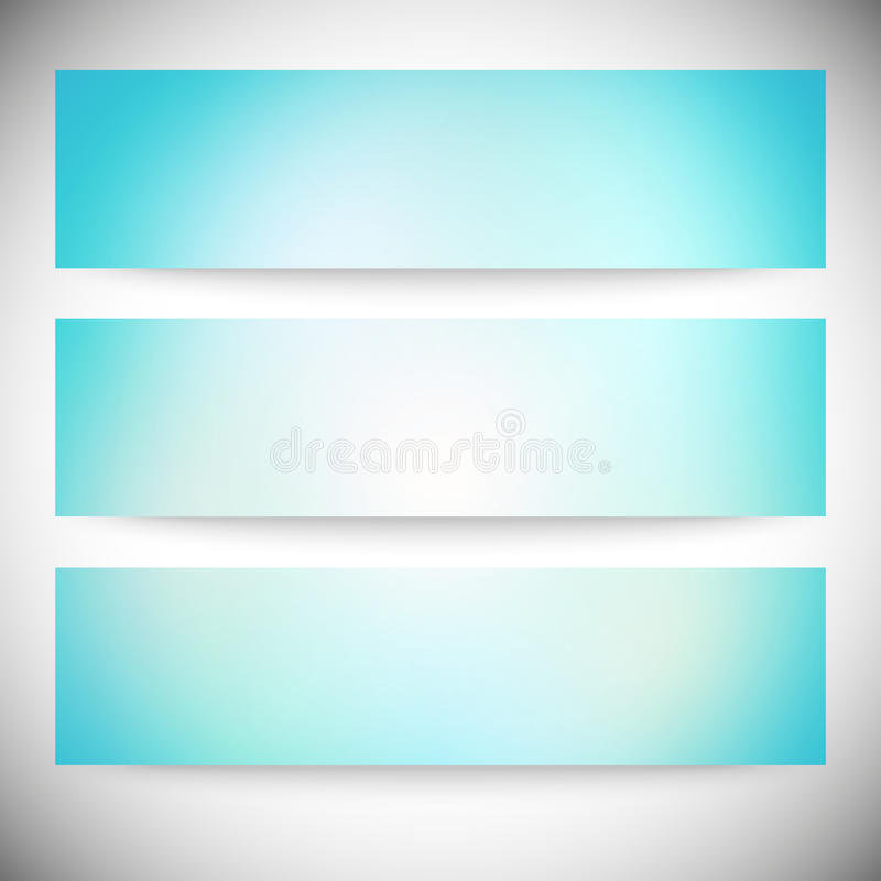 Satz horizontale Fahnen Abstraktes mehrfarbiges lizenzfreie abbildung