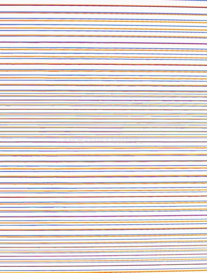 Satz horizontale unregelmäßige unsmooth farbige Linien auf einem weißen Hintergrund lizenzfreie stockfotos