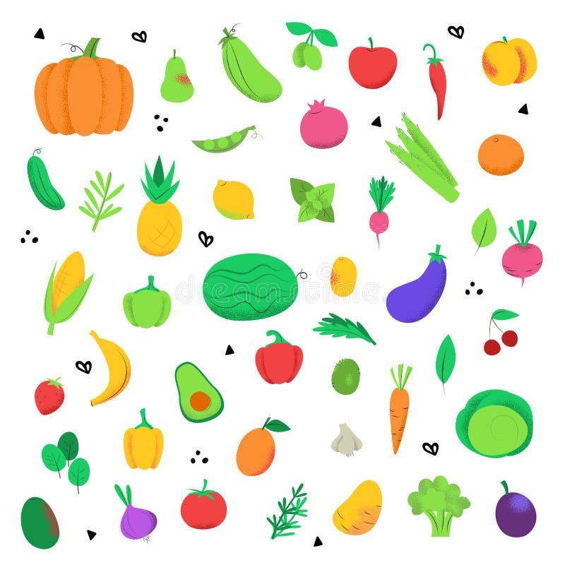 Satz Ikonen von Obst und Gem?se von vektor abbildung