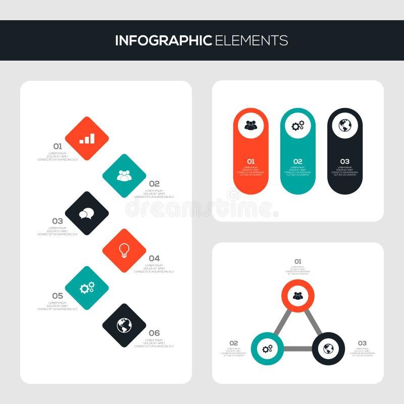 Satz infographic Schablonengestaltungselemente des Geschäfts lizenzfreie abbildung