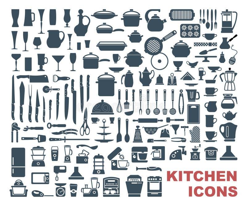 Satz Küchenikonen der hohen Qualität vektor abbildung
