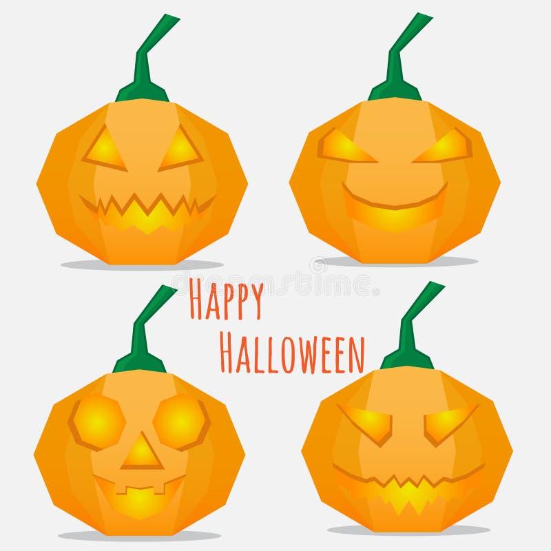 Satz Kürbise Halloween vektor abbildung