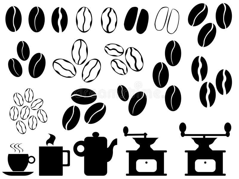 Kaffeebohnevektor lizenzfreie abbildung