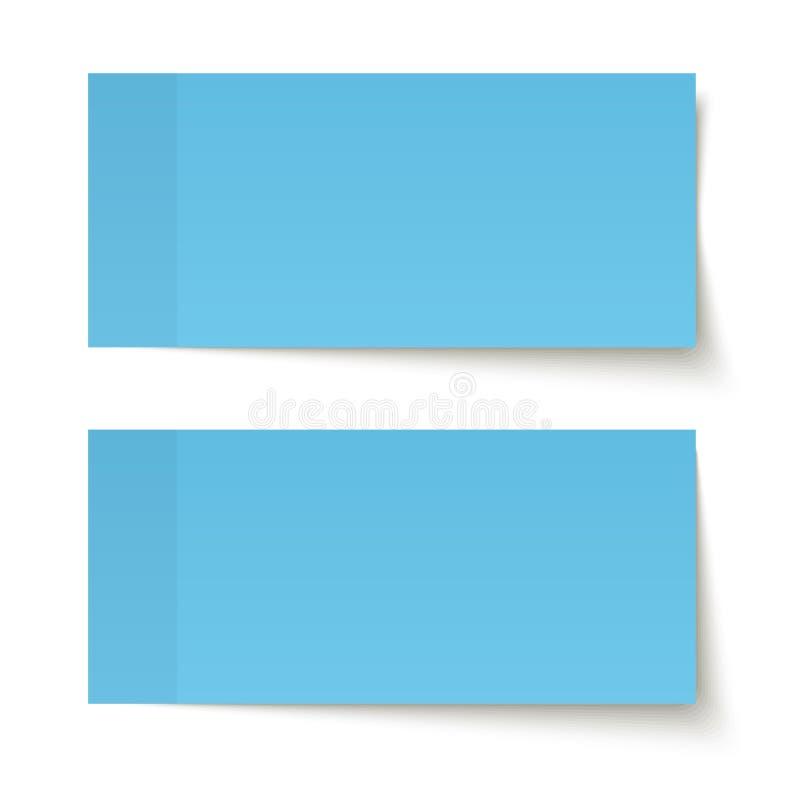 Satz klebrige Anmerkungen blau vektor abbildung
