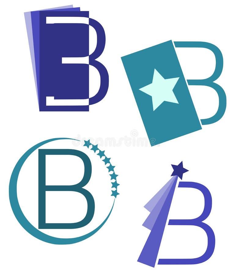 Satz Logos des Buchstabe-B lokalisiert lizenzfreie abbildung