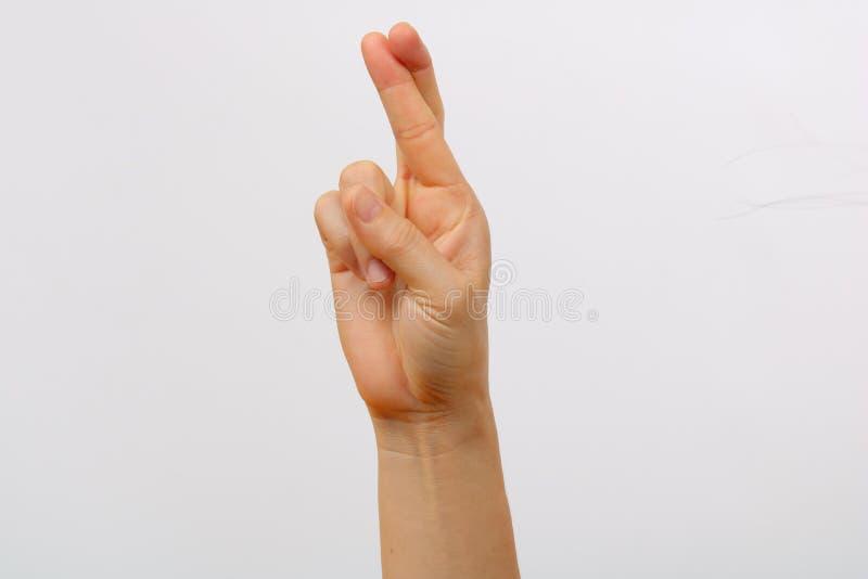 Satz Mannhandzeichen stockfotos