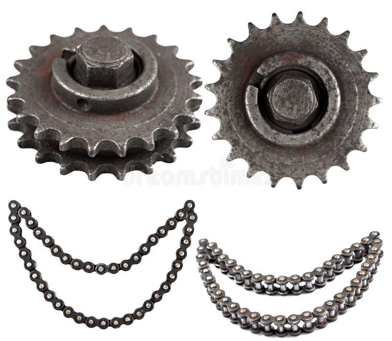 Satz mechanische Teile stockbilder