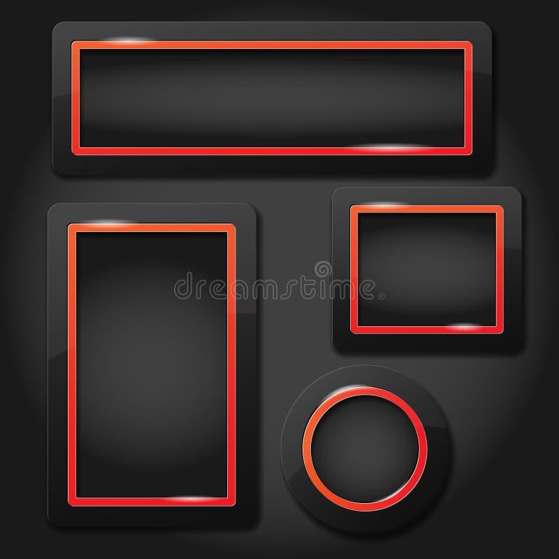 Satz moderne glatte Rahmen vektor abbildung. Illustration von ...