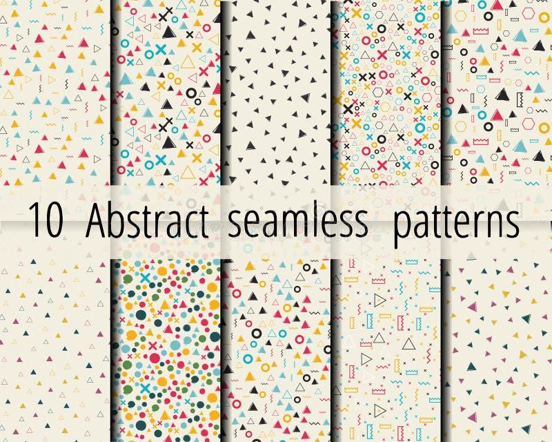 Satz nahtlose abstrakte geometrische Muster lizenzfreie abbildung