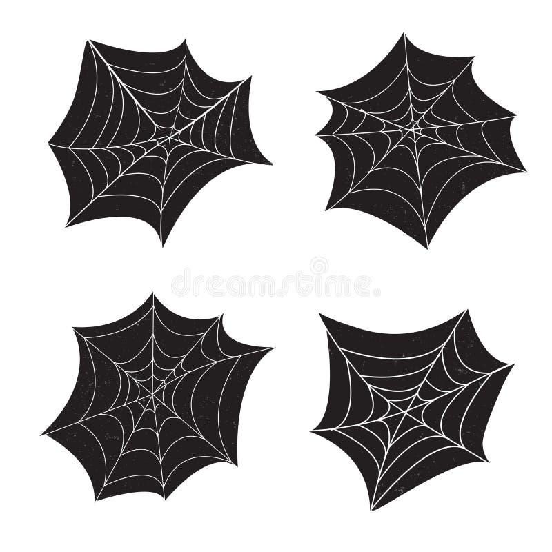 Satz Netz der Spinne 4 stock abbildung