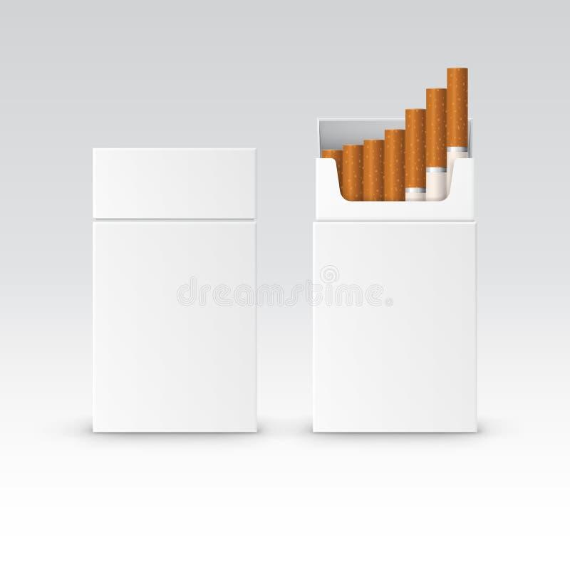 Satz-Paket-Kasten des Vektor-freien Raumes Zigaretten stock abbildung