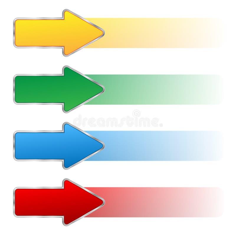 Satz Pfeile stock abbildung