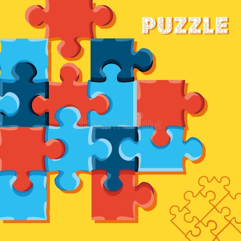 Satz Puzzlespiel-Stücke lizenzfreie abbildung
