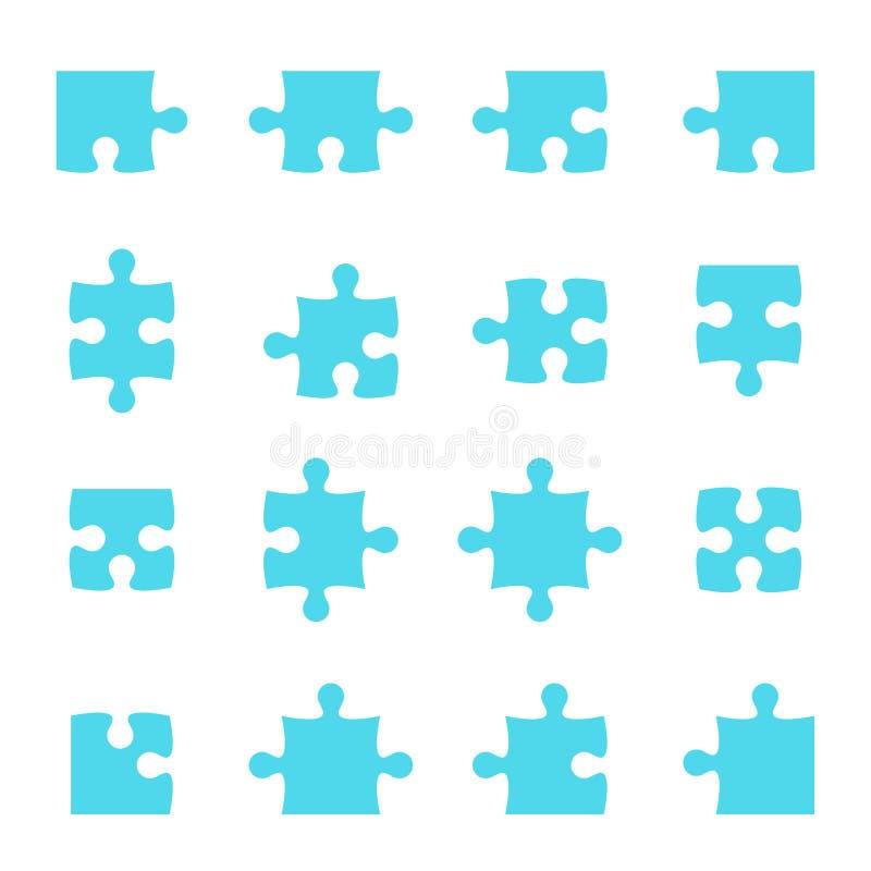 Satz Puzzlespiel-Stücke stock abbildung