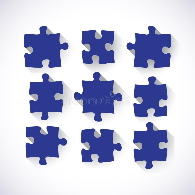Satz Puzzlespiel-Stücke vektor abbildung